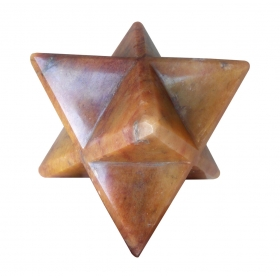 Orange Aventurine Merkaba Star Crystal Sacred Geometry Reiki Point 8 Healing
