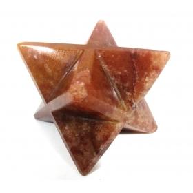 Red Carnelian Merkaba Star Large Crystal Sacred Geometry Reiki Point 8 Healing