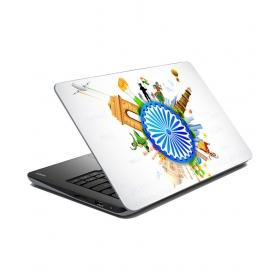 Matte Finish Laptop Skin - Multicolour