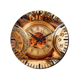 Watch Design Wall Clock With Glass Top