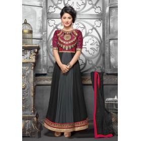 Georgette Semi Stitched Salwar Suit