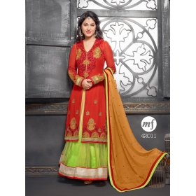 Georgette Semi Stitched Salwar Suit