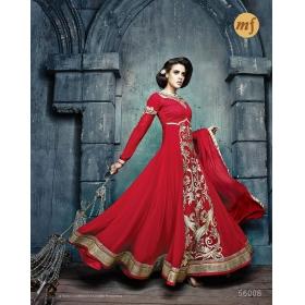 Georgette Party Wear Semi Stitched Salwar Kameez