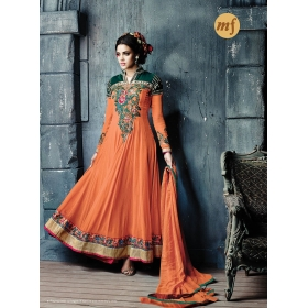 Georgette Party Wear Semi Stitched Salwar Kameez