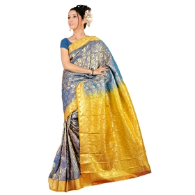 Kanchipuram Fancy Art Silk Saree