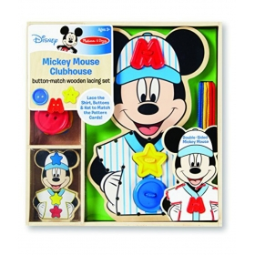 Mickey Mouse Clubhouse Button-match Wooden Lacing Set