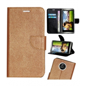 Micromax Canvas Mega 2 Q426 Flip Cover By Gizmofreaks - Brown