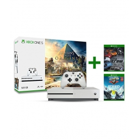 Microsoft Assasin's Creed Xbox One S 500gb Console With The Crew, Steep- Digital Codes