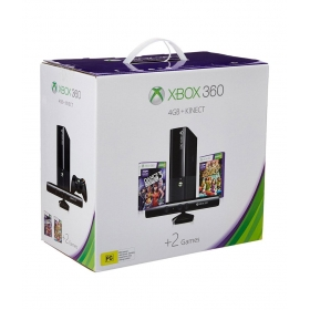 Microsoft Xbox 360 E 4 Gb Console With Kinect Free Games Dance Central 3 & Kinect Adventures
