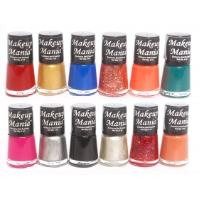 Makeup Mania Exclusive Nail Polish Set Of 12 Pcs (multicolor Set)