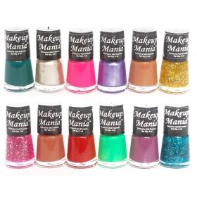 Makeup Mania Exclusive Nail Polish Set Of 12 Pcs (multicolor Set )