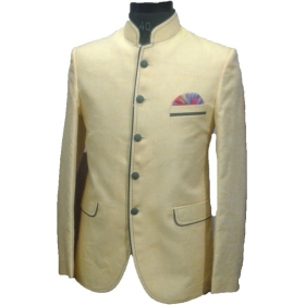 Self Design Single Breasted Wedding, Party Men's Blazer