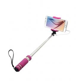 Mobile Link Pink Aux Wire Selfie Stick - 48 Cm