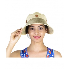 Women Wide Large Brim Floppy Summer Beach Sun Straw Hat | Button Cap Summer Hat For Women