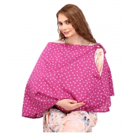 Pink Cotton Nursing Cover