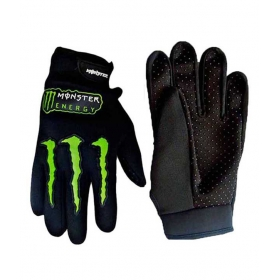 Monster Black Bike Gloves For Suzuki Lets