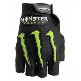 Monster Black Half Fingers Gloves