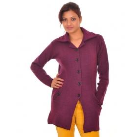Purple Acro Wool Pullovers