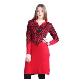 Red Woollen Kurti