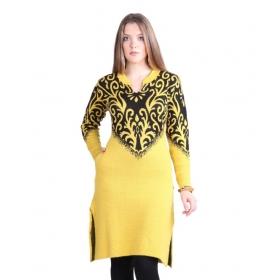 Yellow Woollen Kurti