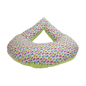 Morisons Baby Dreams Green Cotton Nursing Feeding Pillow
