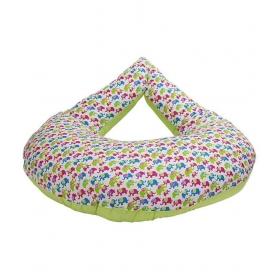 Morisons Baby Dreams Green Cotton Nursing Feeding Pillow