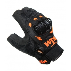 Biker Ktm Half Black Hand Gloves For Riding/saftey Bike Motorcycle
