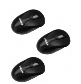 Umax Usb Mini Mouse - Black ( Pack Of 3 )
