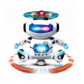Mousepotato White Dancing Robot With Lights And Sound