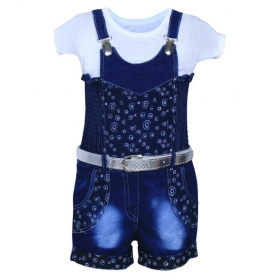 Blue Dungaree Jumpsuit