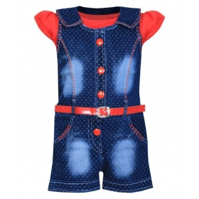 Cute Fashion Baby Girl's Infant Jeans Dungaree Jumpsuit For 18 -24 Months