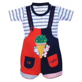 Cute Fashion Unisex Kids Denim Jeans Dungaree Set For