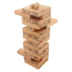 New Tumbling Tower 48 Wooden Building Block Party Games