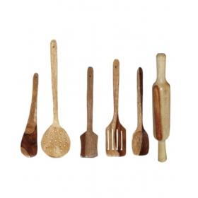 Desi Karigar Wooden Skimmers Set Of 6