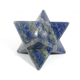 Lapis Lazuli Blue Merkaba Star Large Crystal Sacred Geometry Quartz Reiki Point 8 Healing