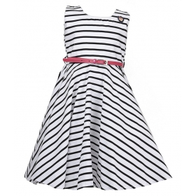 Black And White Cotton Frock
