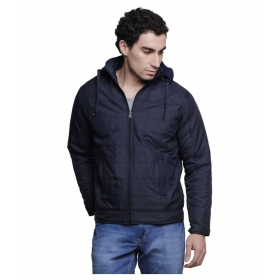 Black Solid Casual Jackets