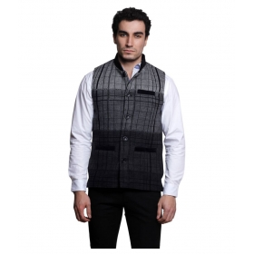 Black Solid Party Jackets