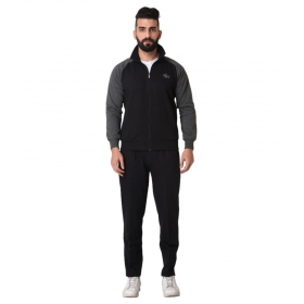 Black Woolen Tracksuit Single