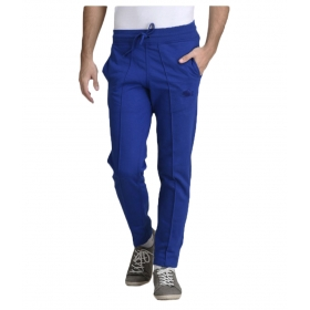 Blue Cotton Trackpants Single