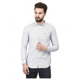 Blue Partywear Regular Fit Shirt