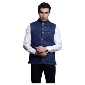 Blue Solid Nehru Jackets