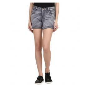 Gray Denim Hot Pants