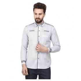 Grey Partywear Slim Fit Shirt