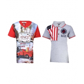 Multi T- Shirt For Boys (pack Of 2)