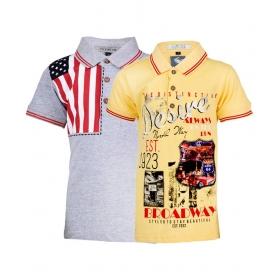 Multicolor Polo T-shirt - Set Of 2