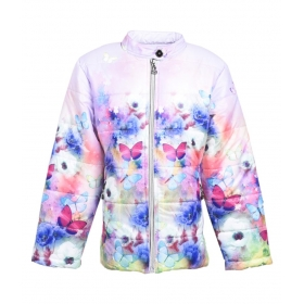 Multicolor Polyester Quilted & Bomber Jacket