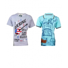Multicolor T-shirt - Pack Of 2