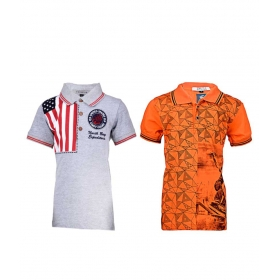 Multicolour Cotton T- Shirt For Boys (pack Of 2)