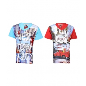 Multicolour Cotton T-shirts For Boys (pack Of 2)